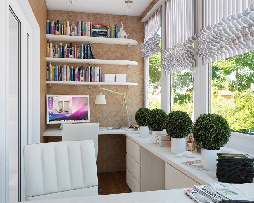 Дизайн балкона-кабинета