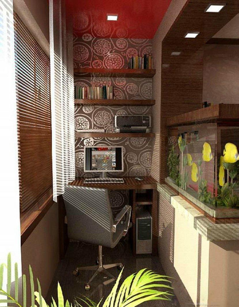 Дизайнерские решения как из балкона зделать кабинет..