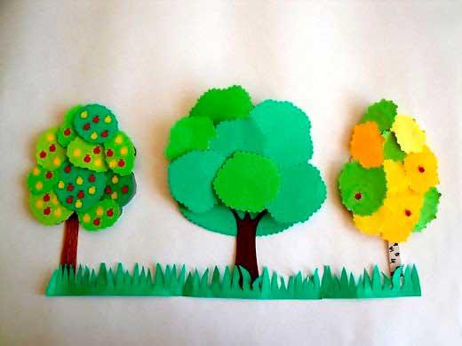 Объемное дерево своими руками из бумаги