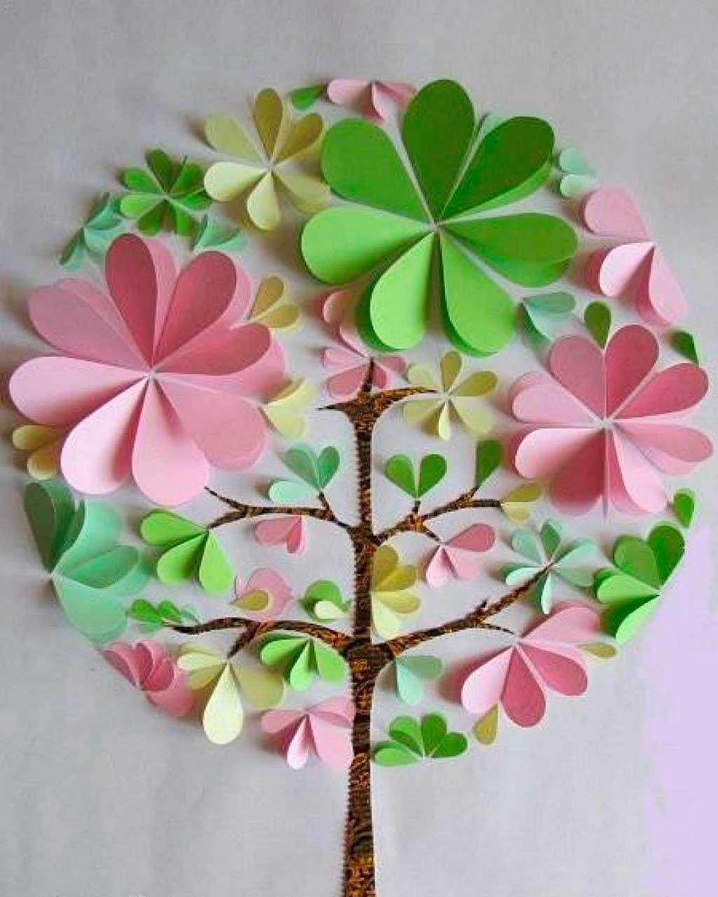 Панно из бумаги своими руками весна