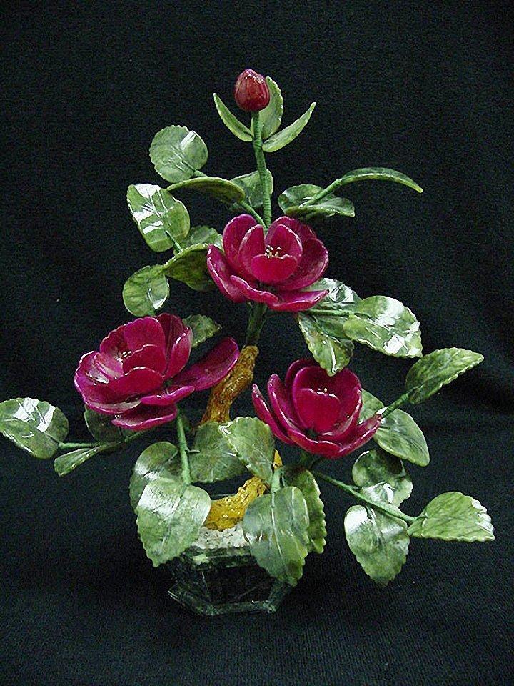 Цветы из камня