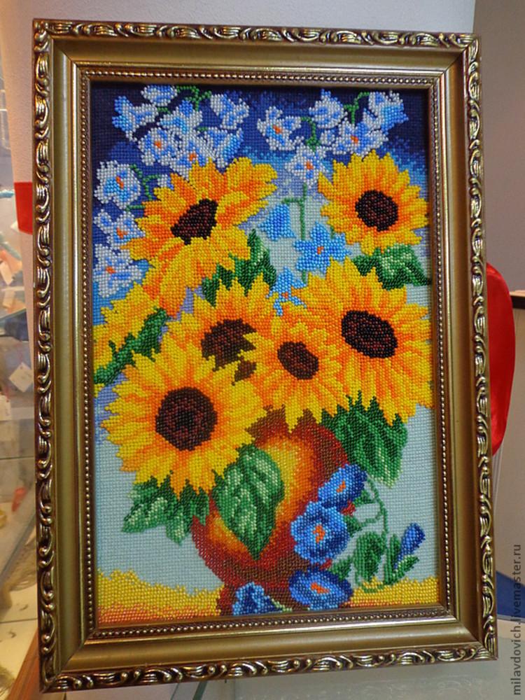 Вышивка бисером картины своими руками фото 176