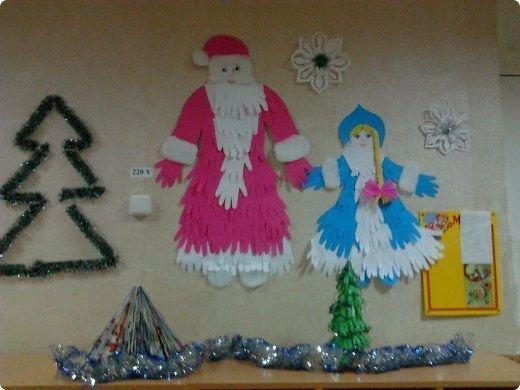 Дед мороз своими руками на стену