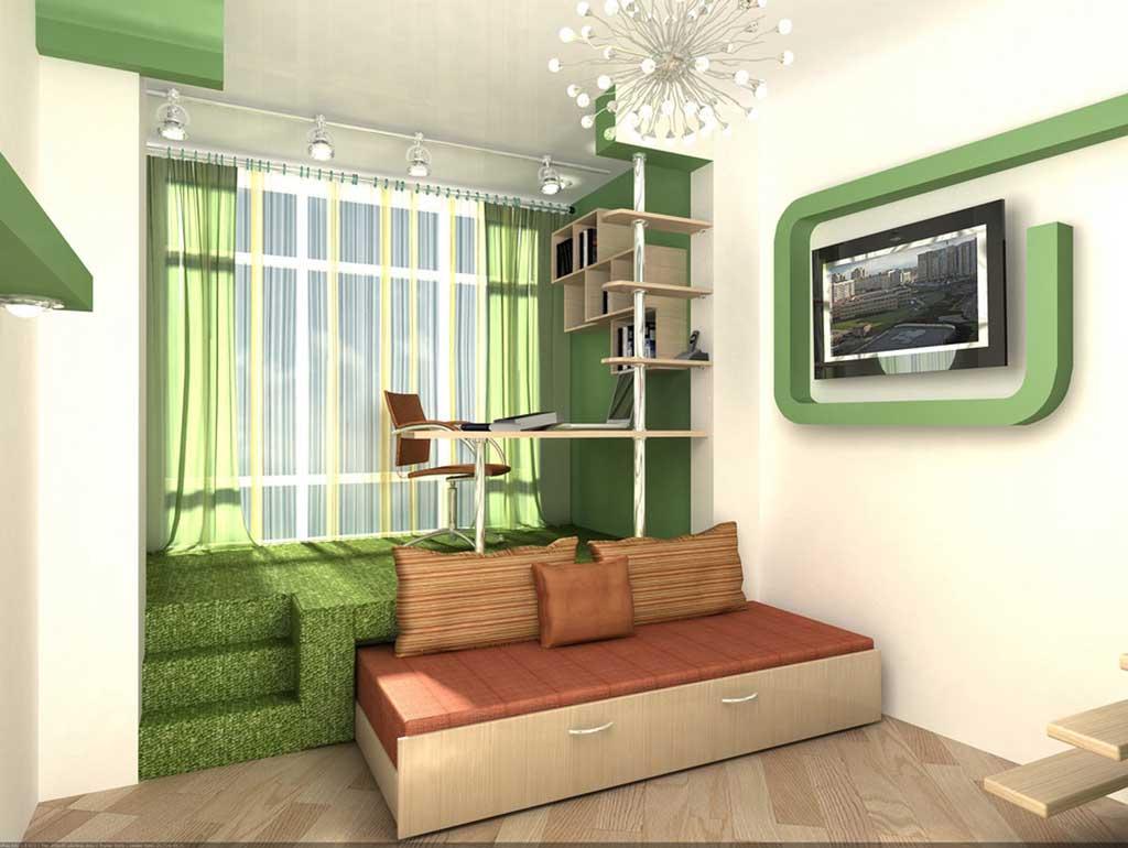 Квартира 32 квм дизайн на две зоны
